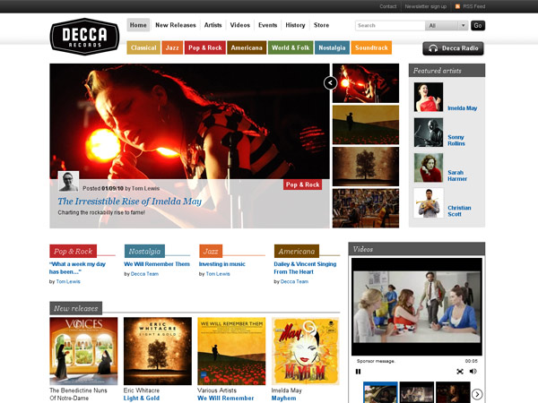 decca.com screenshot