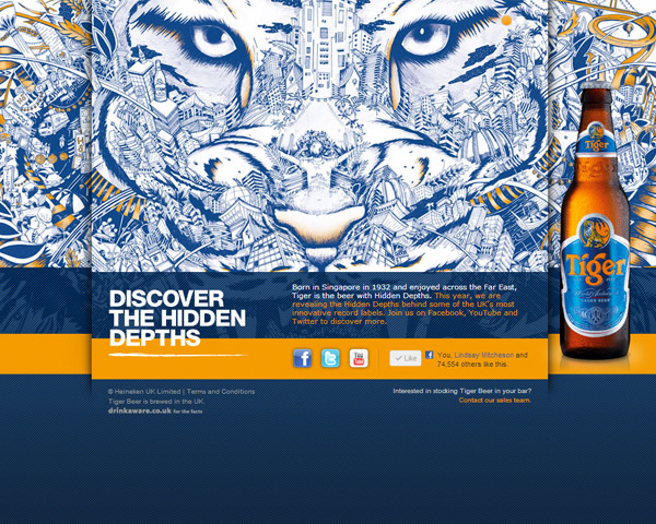 Tiger Beer UK screenshot
